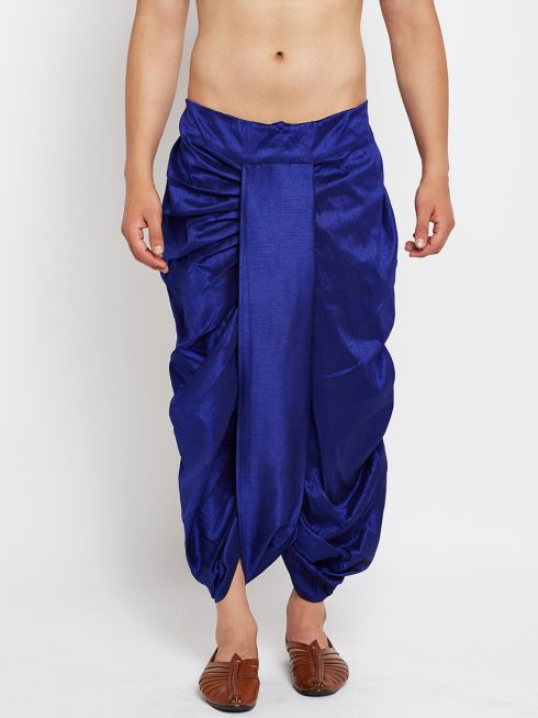 Sojanya (Since 1958), Stitched Royal Blue Mens Dhoti