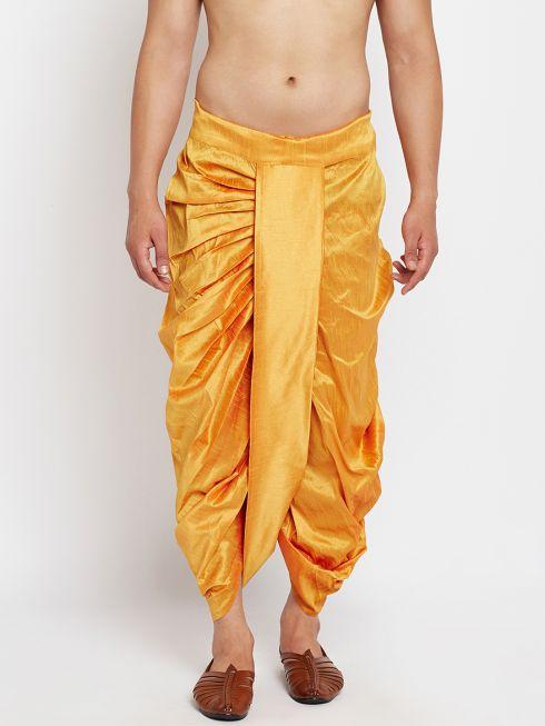 Sojanya (Since 1958), Stitched Mustard Mens Dhoti