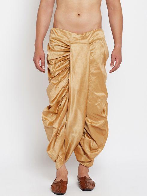 Sojanya (Since 1958), Stitched Beige Mens Dhoti