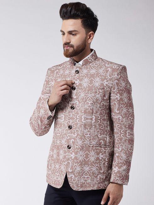 Sojanya (Since 1958) Men's Lavender Printed Blazer