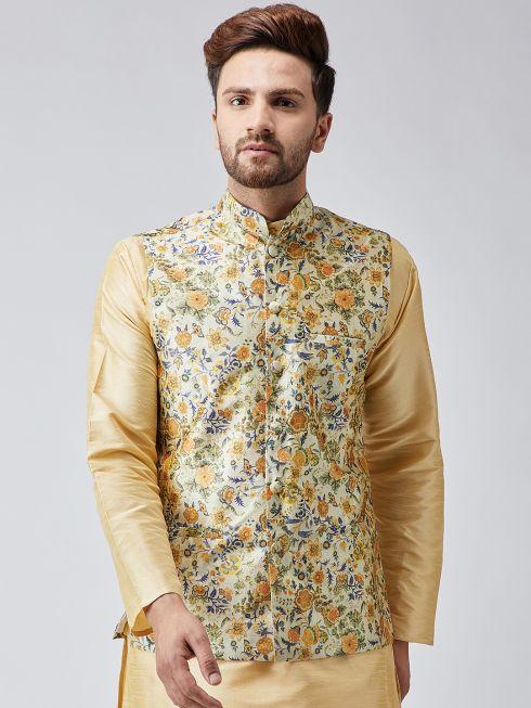 Sojanya (Since 1958) Multi Printed Nehru Jacket