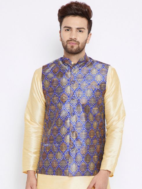 Sojanya (Since 1958), Men's Blue Nehru Jacket