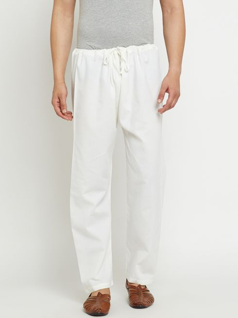 Sojanya (Since 1958), Off-White, Cotton Churidaar Pyjama