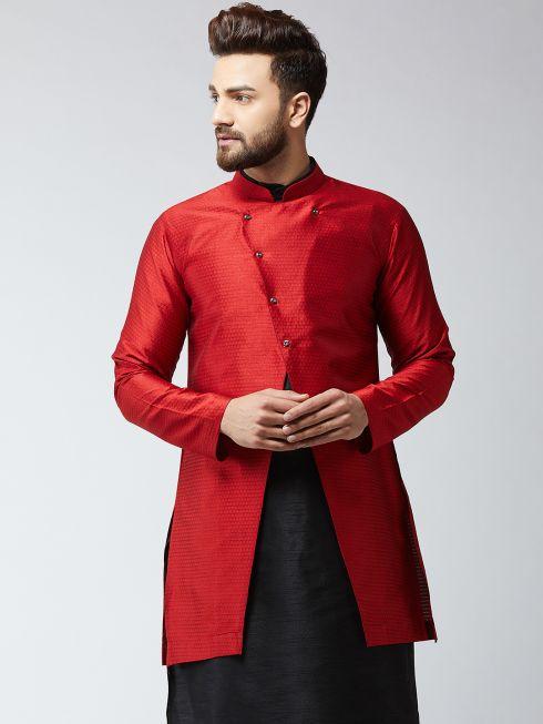Sojanya (Since 1958), Men's Silk Blend Maroon ONLY Sherwani Jacket