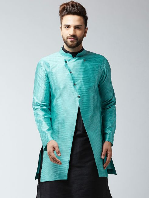 Sojanya (Since 1958), Men's Silk Blend Sky Blue ONLY Sherwani Jacket