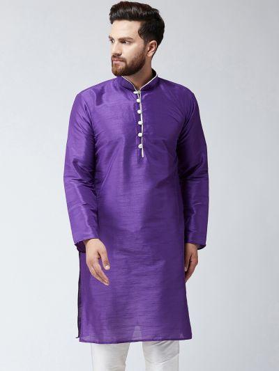 Sojanya (Since 1958) Men's Purple Only Long Kurta