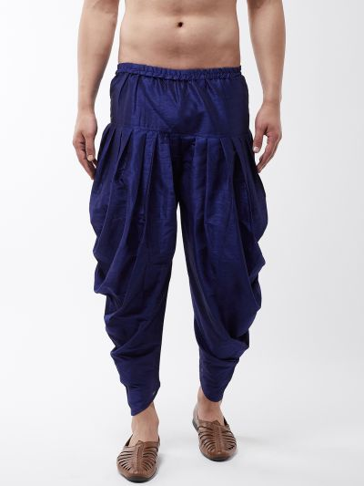 Sojanya (Since 1958), Men's Silk Blend Royal Blue Harem Pant