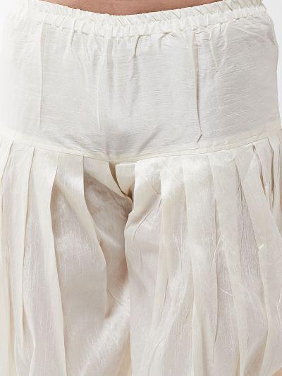 Sojanya (Since 1958), Men's Silk Blend Off-White Harem Pant
