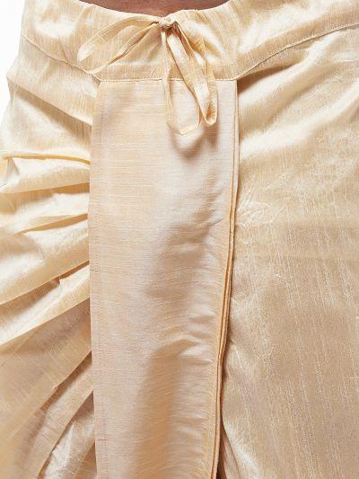 Sojanya (Since 1958) Men's Silk Blend Beige Stitched Dhoti
