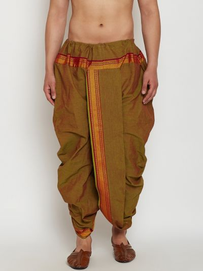 Sojanya (Since 1958), Stitched Juniper Green Mens Dhoti