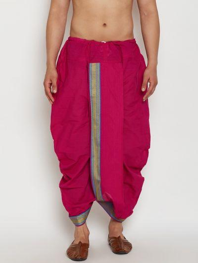 Sojanya (Since 1958), Stitched Pink Mens Dhoti