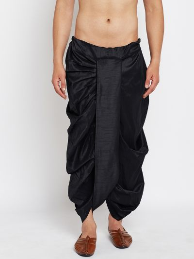 Sojanya (Since 1958), Stitched Black Mens Dhoti
