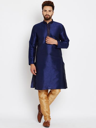 Sojanya (Since 1958), Royal Blue, Dupion Silk Kurta Churidaar Set