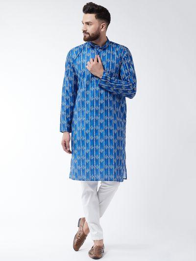 Sojanya (Since 1958) Men's Cotton White Elasticated Solid Pyjama