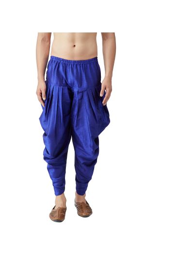 Sojanya (Since 1958), Men's Silk Blend Blue Harem Pant