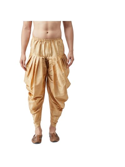 Sojanya (Since 1958), Men's Silk Blend Gold Harem Pant