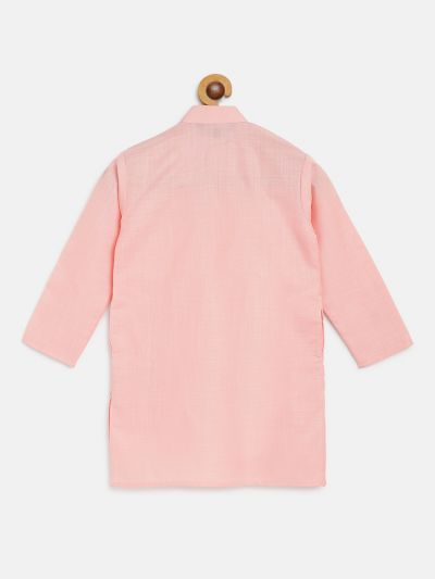Sojanya (Since 1958), Kids Cotton Silk Silk Dark Pink Solid ONLY Long Kurta