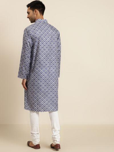 Sojanya (Since 1958), Men's Cotton Grey Printed ONLY Kurta