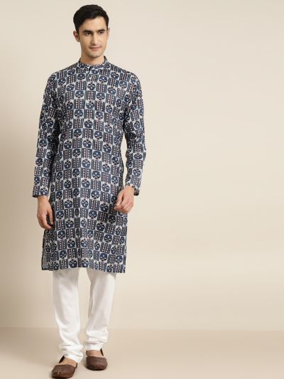 Sojanya (Since 1958), Men's Cotton Multi Printed ONLY Kurta