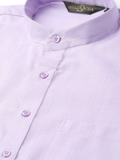 Sojanya (Since 1958), Men's Cotton Purple Solid ONLY Kurta