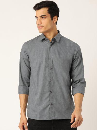Sojanya (Since 1958), Men's Cotton Teal Blue Casual Shirt