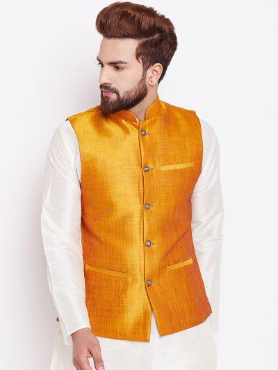 Sojanya (Since 1958) Mustard Nehru Jacket