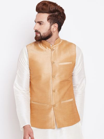 Sojanya (Since 1958) Gold Nehru Jacket