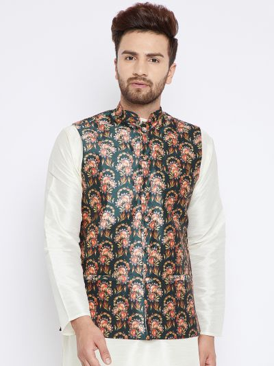 Sojanya (Since 1958), Men's Olivegreen Nehru Jacket