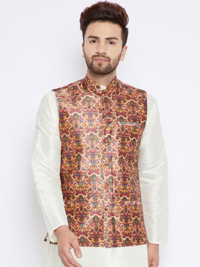 Sojanya (Since 1958), Men's Multicolored Nehru Jacket