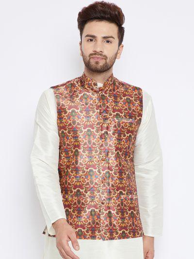 Sojanya (Since 1958), Men's Multicolored Nehru Jacket