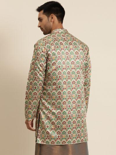 Sojanya (Since 1958), Men's Silk Blend Fawn ONLY Sherwani Jacket
