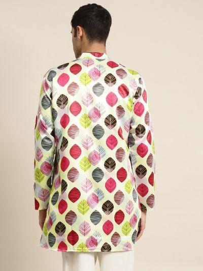 Sojanya (Since 1958), Men's Silk Blend Light Green ONLY Sherwani Jacket