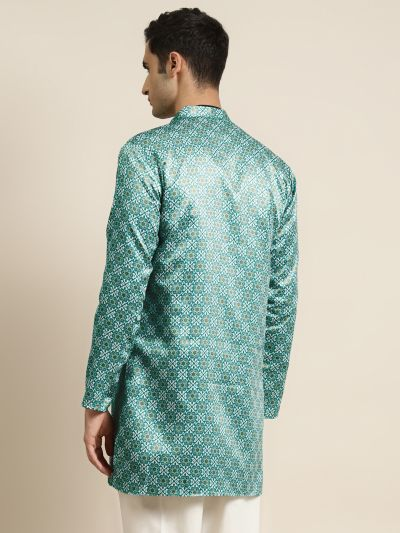 Sojanya (Since 1958), Men's Silk Blend Green ONLY Sherwani Jacket