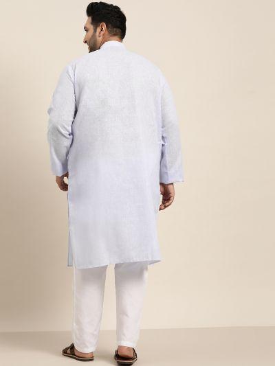 Sojanya (Since 1958), Men's Cotton Linen Sky Blue ONLY Long Kurta