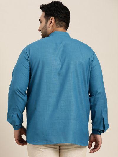 Sojanya (Since 1958), Men's Cotton Black Short Kurta