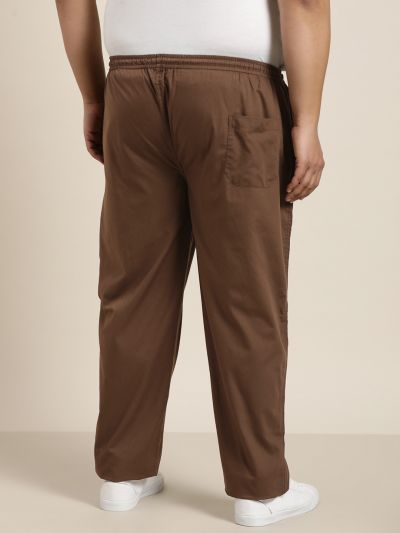 Sojanya (Since 1958), Men's Cotton Brown Solid Track Pant