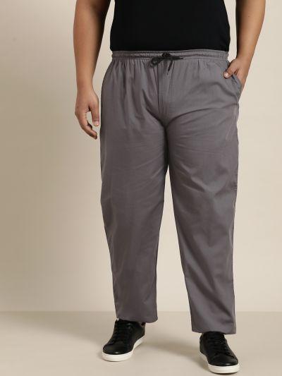 Sojanya (Since 1958), Men's Cotton Grey Solid Track Pant