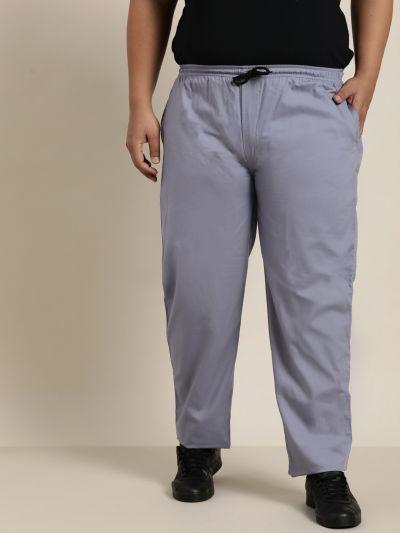 Sojanya (Since 1958), Men's Cotton Light Grey Solid Track Pant