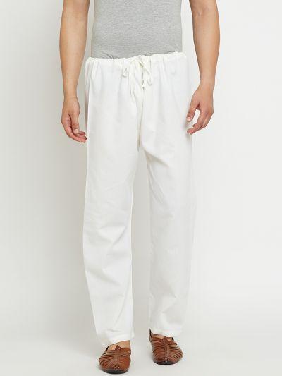 Sojanya (Since 1958), Off-White, Cotton Churidaar Pyjama