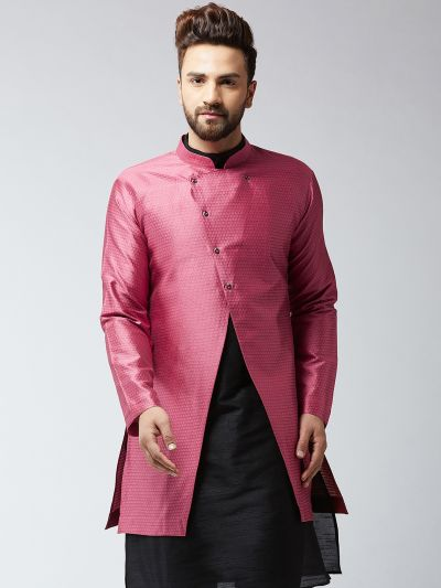 Sojanya (Since 1958), Men's Silk Blend Pink ONLY Sherwani Jacket