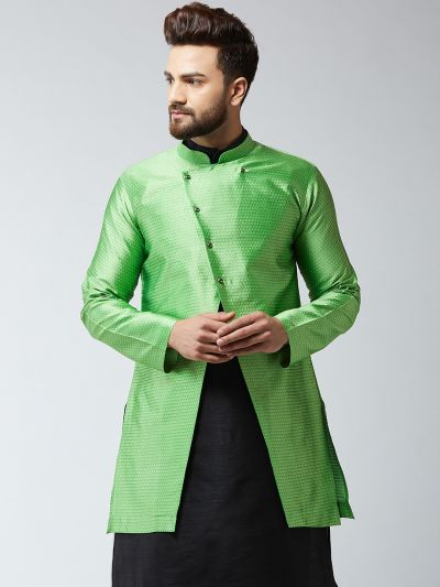 Sojanya (Since 1958), Men's Silk Blend Green ONLY Sherwani Jacket