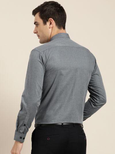 Sojanya (Since 1958), Men's Cotton Teal Blue Formal Shirt