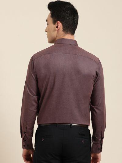 Sojanya (Since 1958), Men's Cotton Wine Formal Shirt