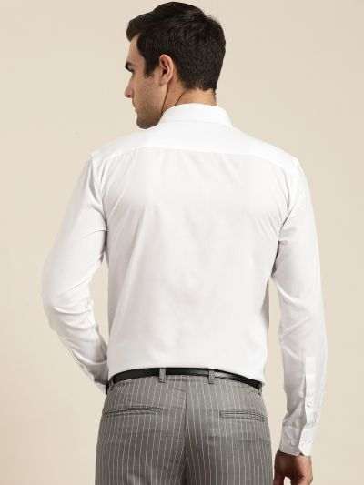 Sojanya (Since 1958), Men's Cotton White Classic Formal Shirt