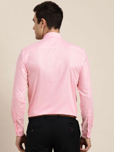 Sojanya (Since 1958), Men's Cotton Pink Classic Formal Shirt