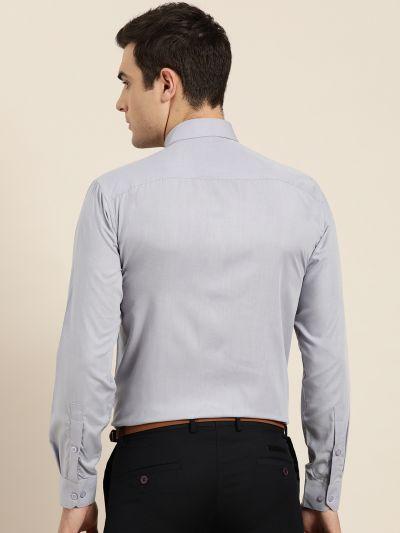 Sojanya (Since 1958), Men's Cotton Grey Classic Formal Shirt