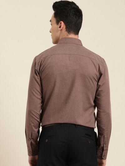 Sojanya (Since 1958), Men's Cotton Wine Classic Formal Shirt