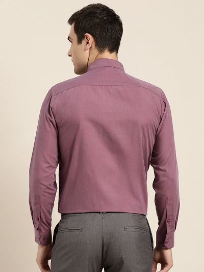 Sojanya (Since 1958), Men's Cotton Violet Classic Formal Shirt