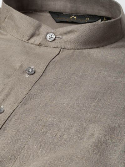 Sojanya (Since 1958), Men's Cotton Grey Solid Short Kurta
